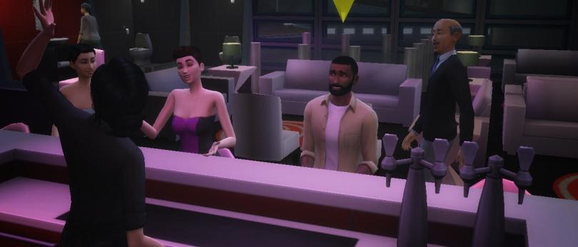 The Sims - Nick Wayne at Flare Lounge