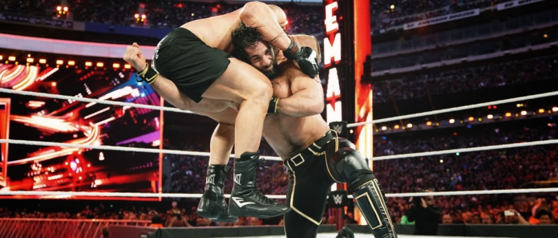 Seth Rollins vs. Brock Lesnar from WrestleMania 35